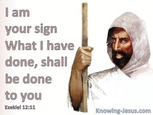 Ezekiel 12:11 You Are To Be A Sign To Israel (white)