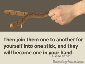 Ezekiel 37:17 Then Join Them For Yourself One To Another Into One Stick (beige)