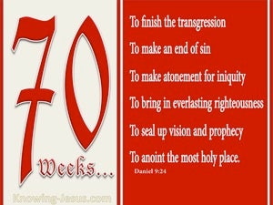 Daniel 9:24 Seventy Weeks Have Been Decreed For Your People red