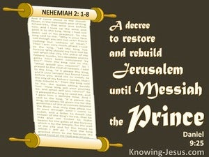 Daniel  9-25 From The Issuing Of A Decree To Rebuild Jerusalem (black)