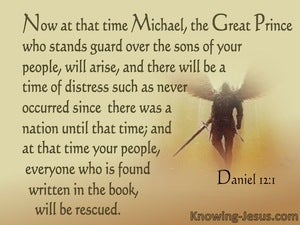 Daniel 12:1 Michael The Great Prince Of Israel (brown)