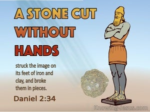 Daniel 2:34 You Watched While A Stone Was Cut Out Without Hands (orange)