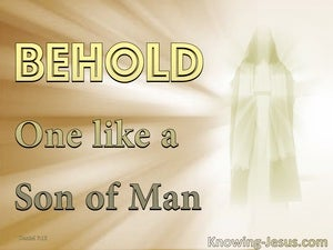 Daniel 7:13 One Like A Son Of Man (gold)