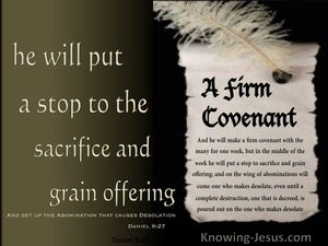 Daniel 9:27  A Firm Covenant (brown)