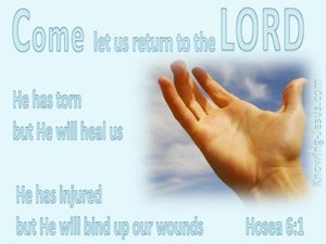 Hosea 6:1 Let Us Return To The Lord blue