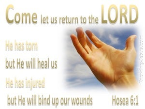 Hosea 6:1 Let Us Return To The Lord (gold)