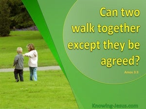 Amos 3:3 Can Two Walk Together (yellow)
