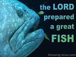 Jonah 1:17 The Lord Prepared A Big Fish (black)