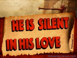 Zephaniah 3:17 God Is Silent In His Love red