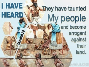 Zephaniah 2:8 The Taunting Of Moab And The Revilings Of The Sons Of Ammon (aqua)