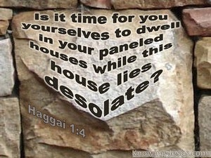 Haggai 1:4 This House Lies Desolate (brown)