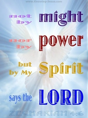 Zechariah 4:6  By My Spirit Says The Lord (blue)