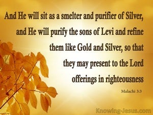 Malachi 3:3 He Will Purify Them Like God And Silver yellow