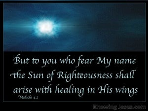 Malachi 4:2 The Sun Of Righteousness Shall Arise (blue)