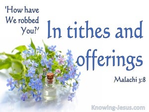 Malachi 3:8 In Thithes And Offerings (blue)