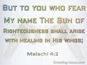 Malachi 4:2 The Sun Of Righteousness Shall Arise (beige)