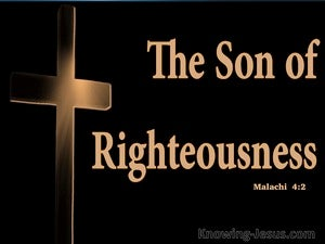 Malachi 4:2 The Sun Of Righteousness Shall Arise (black)