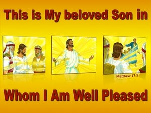 Matthew 17:5  This Is My Beloved Son Hear Him red