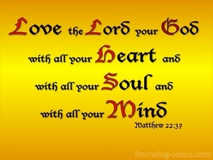 Matthew 22:37 Love The Lord Your God gold