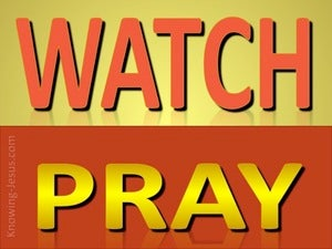 Matthew 26:41 Watch And Pray red