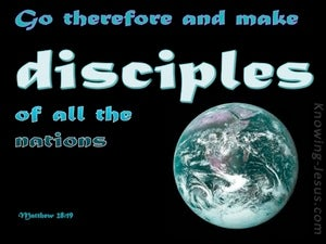 Matthew 28:19 Go And Make Disciples blue