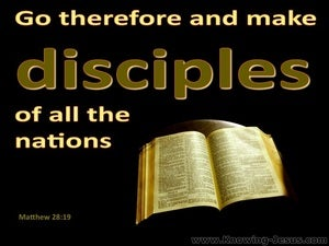 Matthew 28:19 Go And Make Disciples yellow
