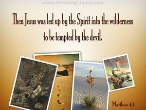 Matthew 4:1 Jesus Was Led By The Spirit Into The Wilderness brown