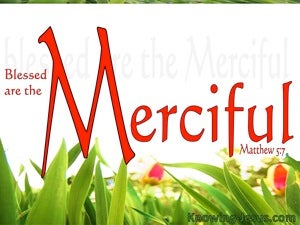 Matthew 5:7 Blessed Are The Merciful red