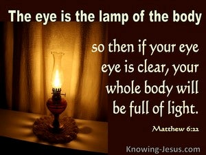 Matthew 6:22 The Eye Is The Lamp Of The Body (brown)
