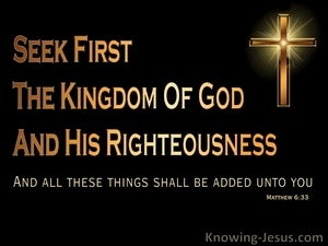 Matthew 6:33 Seek First the Kingdom (black)