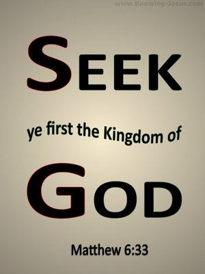 Matthew 6:33 Seek First The Kingdom Of God beige