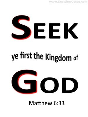 Matthew 6:33 Seek First The Kingdom white