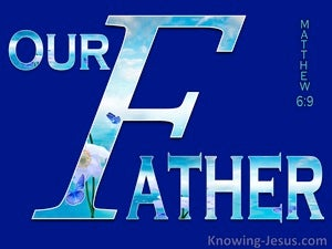 Matthew 6:9 Our Father Who Art In Heaven (blue)