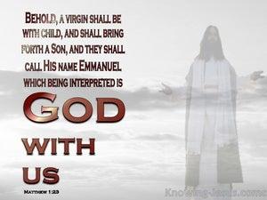 God With Us (devotional) (gray) - Matthew 1:23