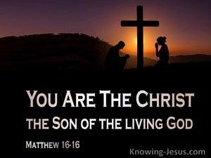 Matthew 16:16 You Are The Christ (orange)