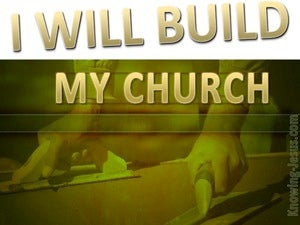 Matthew 16:18 I Will Build My Church (green)