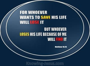 Matthew 16:25 Whoever will lose His life (blue)