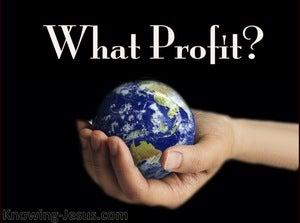 Matthew 16:26 What Profit (black)