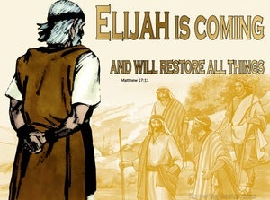 Matthew 17:11 Elijah Is Coming And Will Restore All Things (yellow)