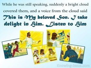 Matthew 17:5  This Is My Beloved Son Hear Him (blue)