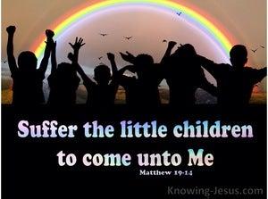 Matthew 19:14 Suffer Little Children To Come Unto Me (pink)