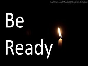 Matthew 24:44 Be Ready (black)