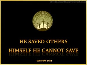 Matthew 27:42 He Saved Others (yellow)