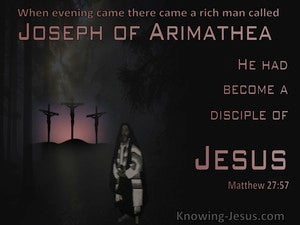 Matthew 27:57 Joseph Of Arimathea Was A Disciple of Jesus (pink)