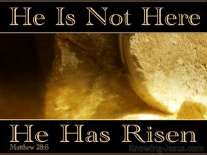 Matthew 28:6 He Is Not Here He Is Risen (brown)