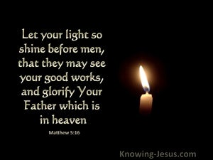 Matthew 5:16 Let Your Light Shine Before Men (black)