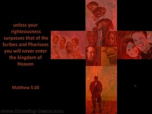 Matthew 5:20 Your Righteousness (black)