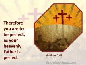 Matthew 5:48 Be Ye Therefore Perfect, Even As Your Father In Heaven Is Perfect (yellow)