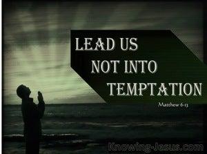 Matthew 6:13 Lead Us Not Into Temptation (sage)