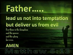 Matthew 6:13 Lead Us Not Into Temptation (green)